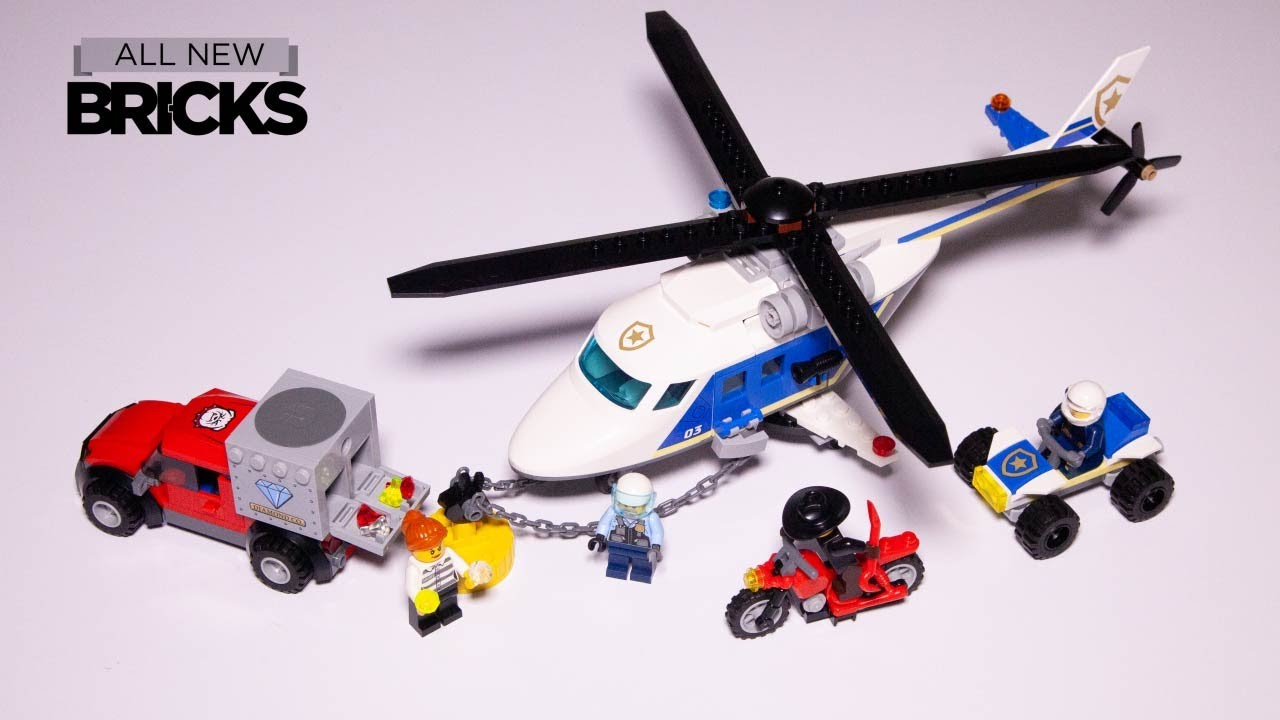 Lego City 60243 Police Helicopter Chase Speed Build