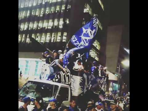 """Comandos Azules 31*43"" Barra: Comandos Azules • Club: Millonarios • País: Colombia"