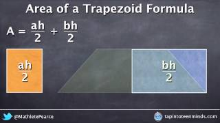 Visualizing Area of a Trapezoid Formula - Deriving the