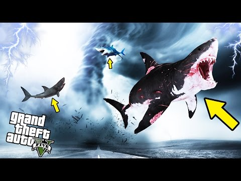SHARKNADO MOD IN GTA 5! - GTA 5 Mods Gameplay
