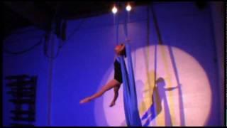 Angela Wen-Yi on aerial fabric ~ 100 Words for Rain