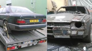 Масел кар из старого Mercedes W124 1988 года