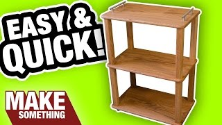 Making A Kitchen Cart With Killer Features | Easy Woodworking Project