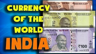 Currency of the world - India. Indian rupee. Exchange rates India. Indian banknotes, Indian coins