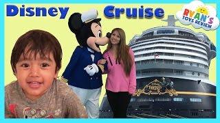 Disney Cruise Fantasy Family Fun Vacation Tour with Ryan ToysReview
