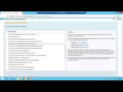 SAP BASIS Certification :SAP NW 7.5 Installation - YouTube
