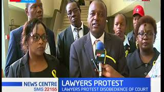 Lawyers plan to protest against disobedience of court