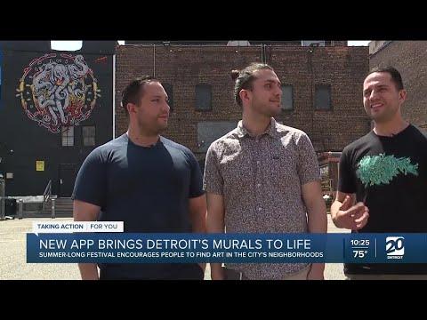 New app brings Detroit's murals to life