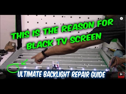 How to fix LED LCD TV black screen no backlight, TV disassemble, testing LEDs, ordering part, repair