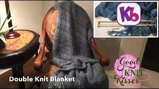 "Easy Double Knit Blanket - 28"" KB Loom - knit in one piece"