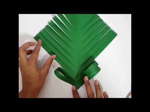 christmas tree making diy paper craft