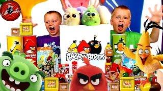 Посылка Angry Birds Movie ЭНГРИ БЁРДС В КИНО сюрпризы игрушки СВИТ БОКС, Киндер Сюрприз TOYS