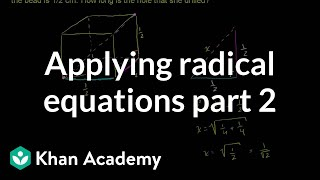 Applying Radical Equations 2