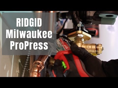 Using RIDGID jaws w/ Milwaukee M12
