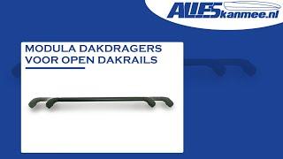 Modula dakdragers voor auto met open dakrails