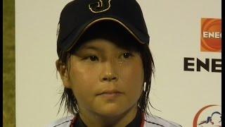 女子野球六角彩子選手ヒーローインタビュー2014W杯侍ジャパン女子代表