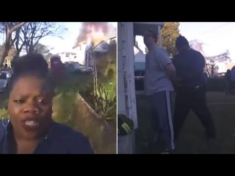 Woman Plays Journalist and Reports Live on Neighbor's House Fire