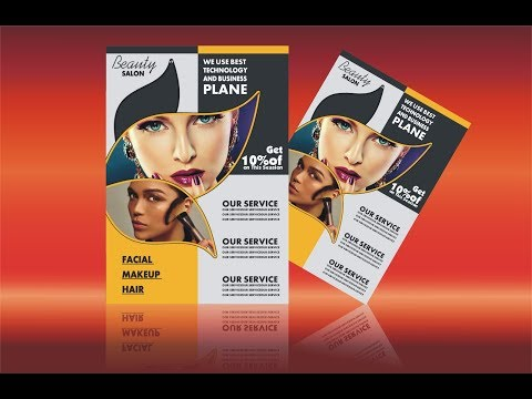CorelDraw X6 Beauty Salon Flyer Design Tutorial By Ahsan Sabri Mp3