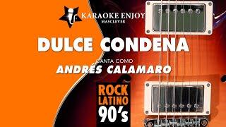 Dulce condena   Andres Calamaro Versión cover Karaoke con letra pintada