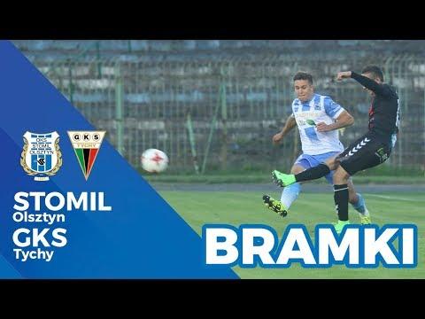 Bramki z meczu Stomil Olsztyn - GKS Tychy 2:0