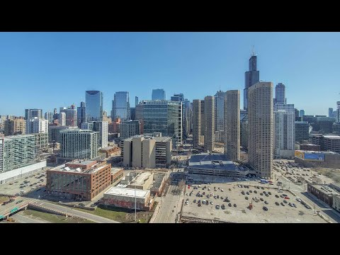 A West Loop skyline-view studio #2704 at the new 727 West Madison