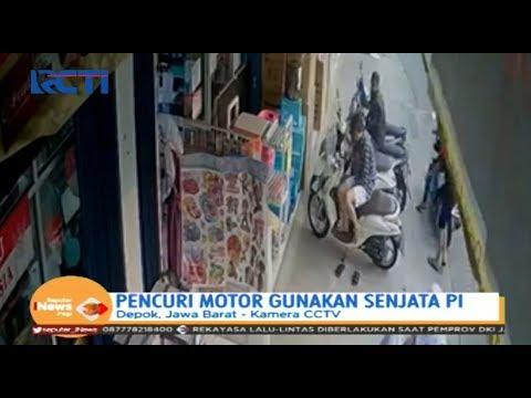 Aksi Pencuri Motor Bawa Senjata Api di Depok Terekam CCTV - SIP 26/10
