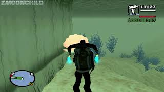 GTA San Andreas - How to fly a Jetpack underwater