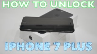 How to Unlock iPhone 7 Plus for ANY CARRIER (AT&T, Sprint, T-Mobile, Verizon, Boost Mobile, etc)