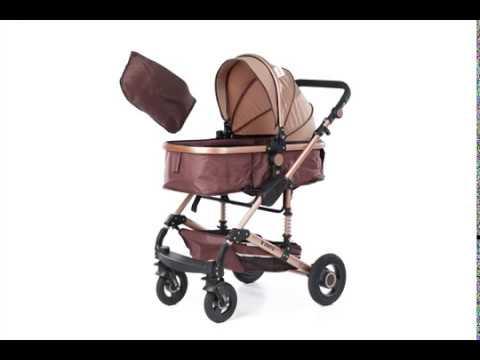 Комбинирана детска количка FONTANA 3 в 1 с швейцарска конструкция и дизайн, бежов ZIZITO  2