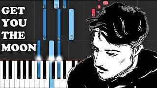 Kina Ft Snow   Get You The Moon (Piano Tutorial)