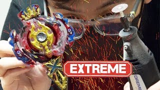 DANGEROUS HAND TOOLS + BEYBLADES! - Epic Toy Modification!