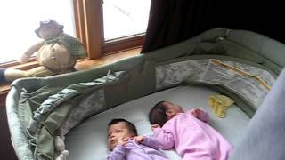 can-mex twins: Papi helping them sleep at 7 weeks old