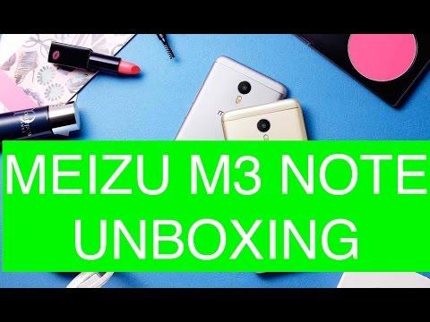 Video Unboxing Meizu M3 Note