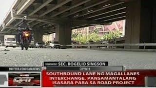 QRT: Southbound lane ng Magallanes interchange, pansamantalang isasara para sa road project