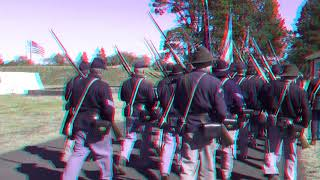 Civil War troops marching 3D Red/Cyan Anaglyph