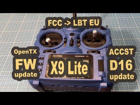 Taranis X9 Lite ACCST D16 EU LBT einrichten - Firmware update