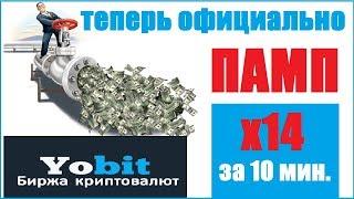 Криптовалютная биржа YOBIT ПАМП и ДАМП Как заработать биткоин ОБЗОР Торговля на бирже YOBIT.NET