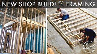 Building My Shop : Wood Stud Wall Framing, Door and Corner Framing