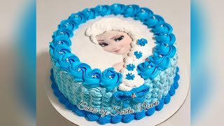 How To Make A Frozen Elsa Cake | Disney Princess Cake | Pastel De Frozen Elsa
