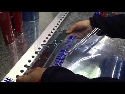 Instalación Cortinas en Bandas de PVC 4MAR Cabezal móvil de