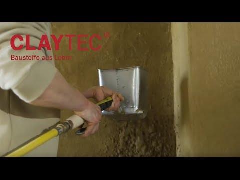 Lehmputzverarbeitung mit dem Putzwerfer TIGRE
