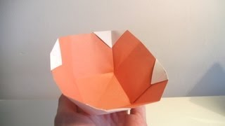 Easy Origami Bowl Tutorial