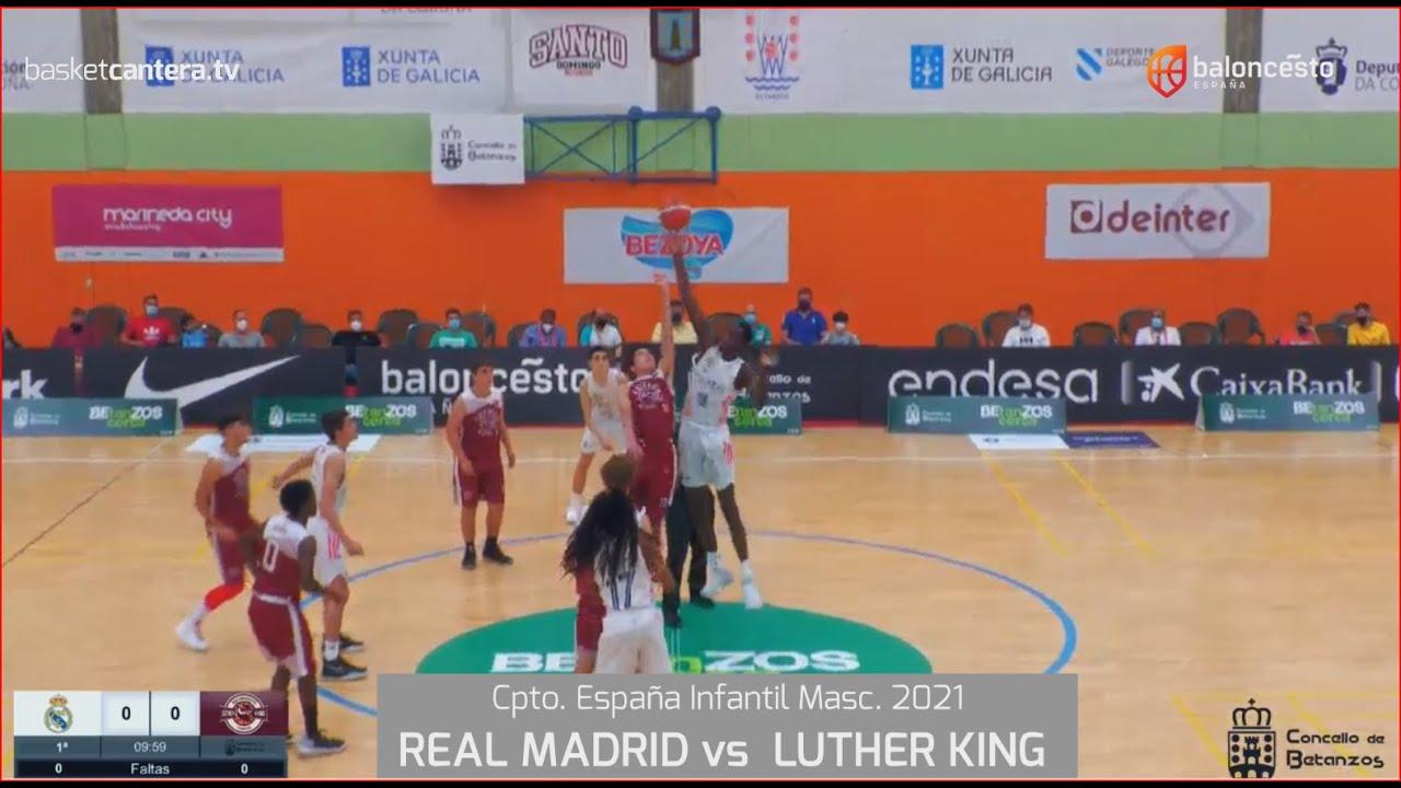 U14M Cpto.España. REAL MADRID vs LUTHER KING.- Cpto. de España Infantil. FEB-Betanzos 2021