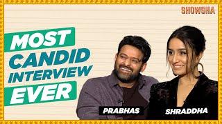 Prabhas & Shraddha Kapoor Candid Interview I Saaho I Baahubali 3 | SHOWSHA