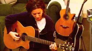 "ani difranco performs ""november 4th 2008""  in her dressing room"