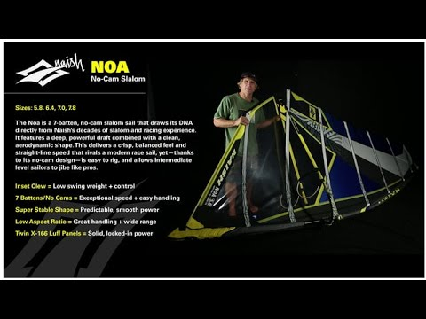 2016 Naish Noa | No cam Slalom Windsurf Sail
