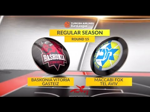 EuroLeague Highlights RS Round 15: Baskonia Vitoria Gasteiz 101-88 Maccabi FOX Tel Aviv