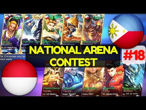 Philippines VS Indonesia [1st Game 160617] | National Arena Contest Mobile Legends