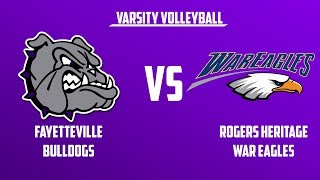 Varsity Volleyball | Rogers Heritage vs Fayetteville