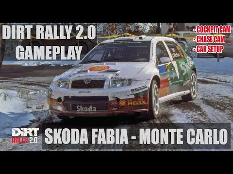 DiRT RALLY 2.0 GAMEPLAY | MONTE CARLO | SKODA FABIA | COCKPIT & CHASE CAMERA + CAR SETUP
